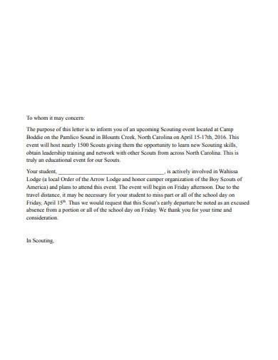 printable school excuse letter