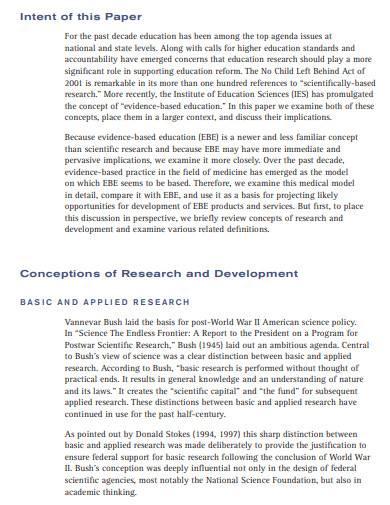 professional scientific research sample