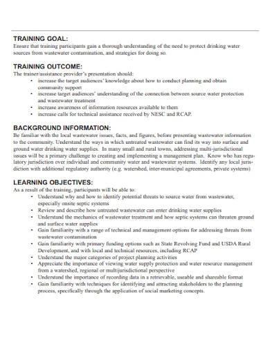 professional trainer lesson plan