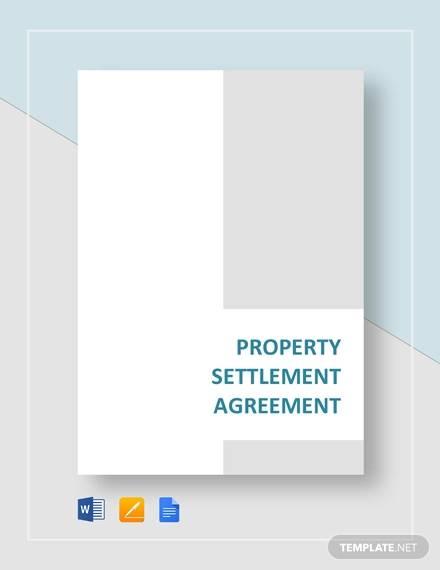 property settlement agreement template