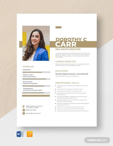 free 13  sample real estate resume templates in ms word