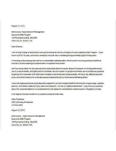 recommendation letter for graduate school from coworker