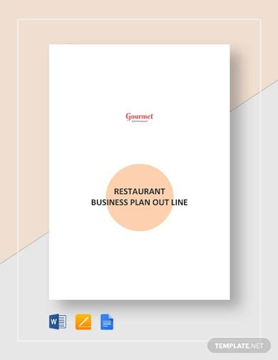 restaurant business plan outline template