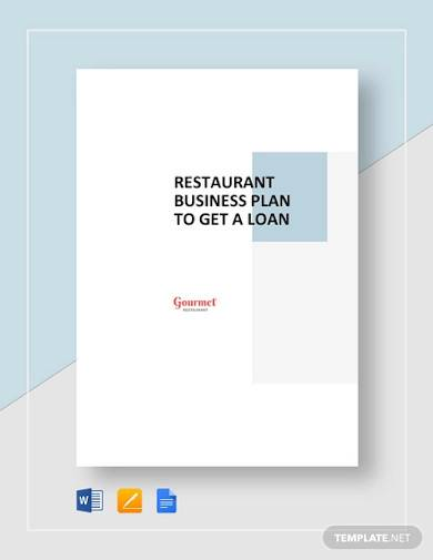 restaurant business plan to get a loan