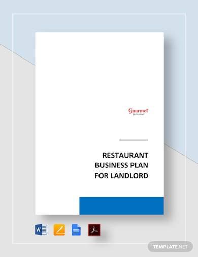 restaurant business plan for landlord