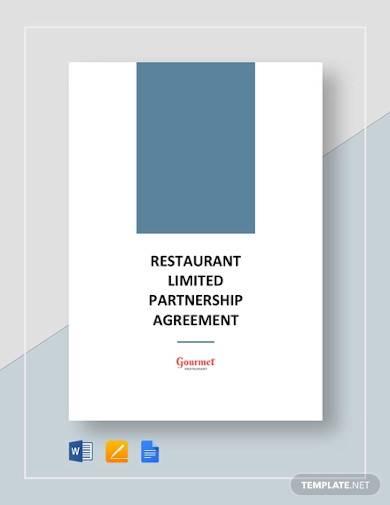 restaurant limited partnership agreement