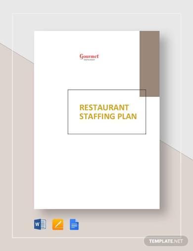 restaurant staffing plan template