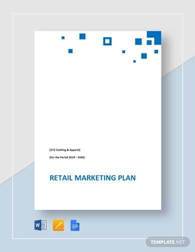 retail marketing plan template
