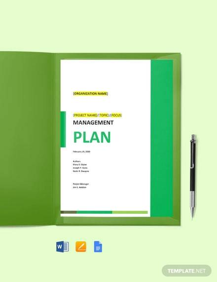 risk management plan form template