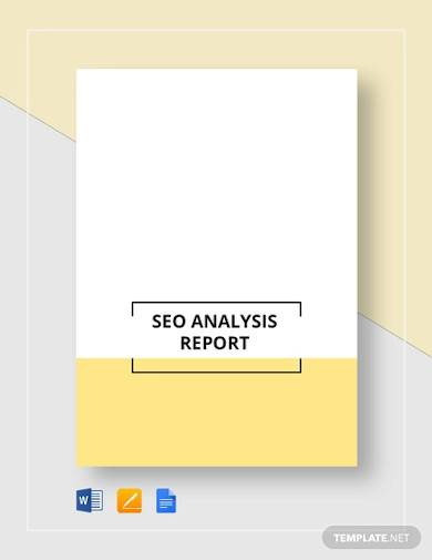 seo analysis report template