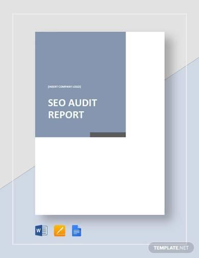 seo audit report template