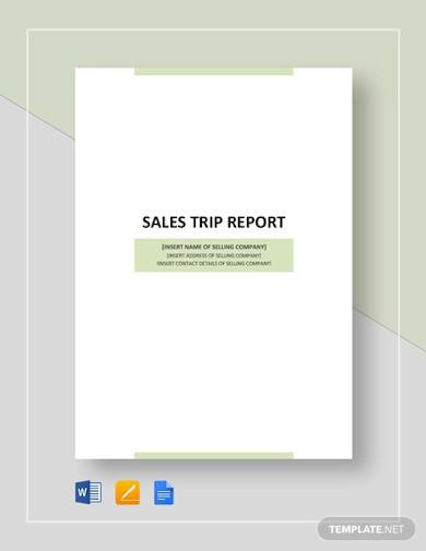 sales business trip report template