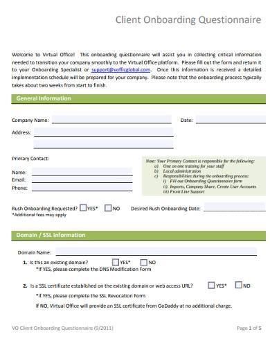 sample client onboarding questionnaire