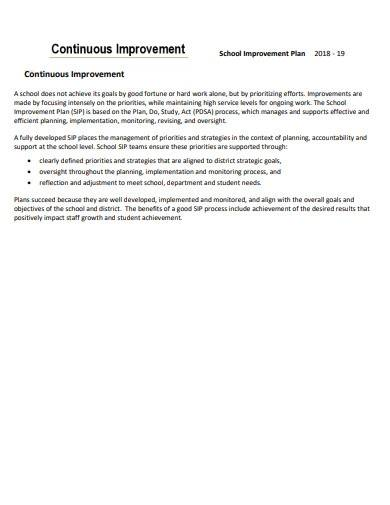 sample continuous improvement