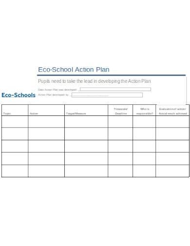 sample eco school action plan