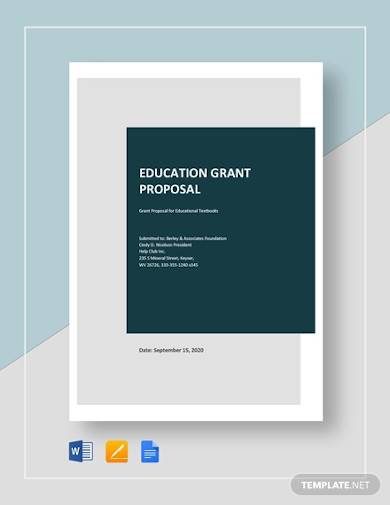 sample education grant proposal template