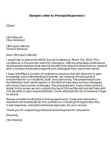 sample excuse letter to principal