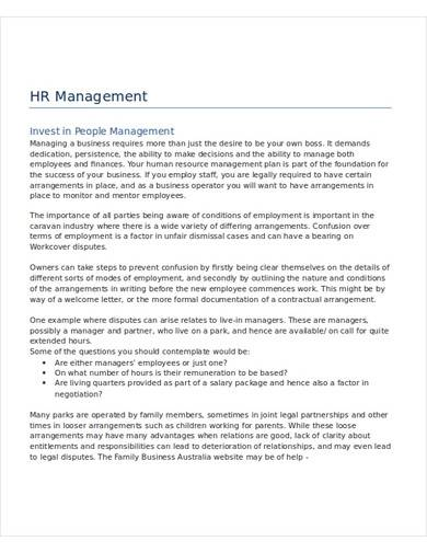 sample hr policy template