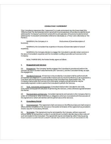 sample it consultancy agreement