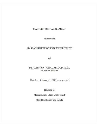 sample master trust agreement