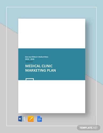 sample medical clinic marketing plan
