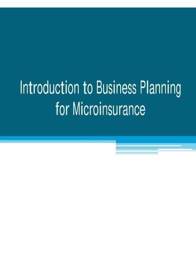 sample micro insurance business plan