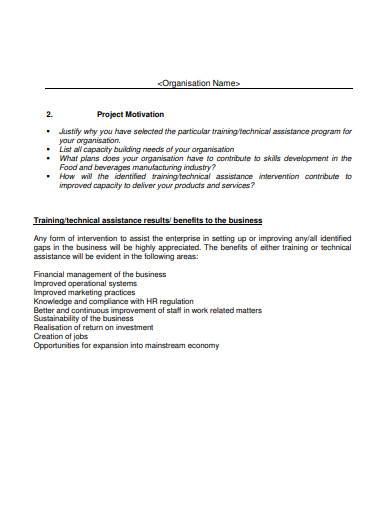 sample ngo proposal template