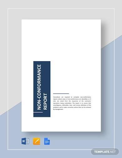 sample non conformance report template
