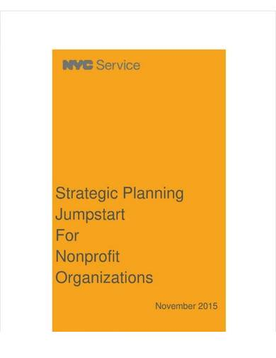 sample nonprofit organization strategic planning