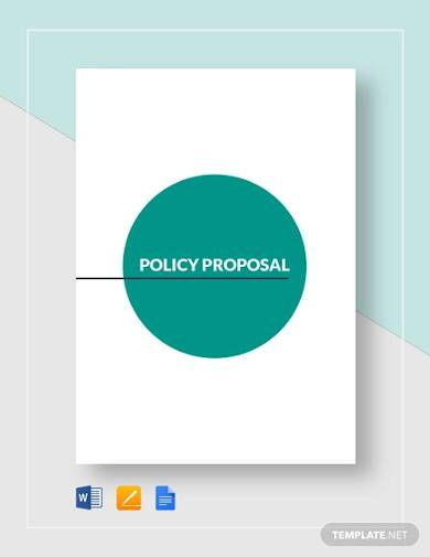 sample policy proposal template