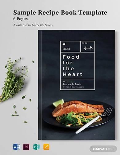 sample recipe book template