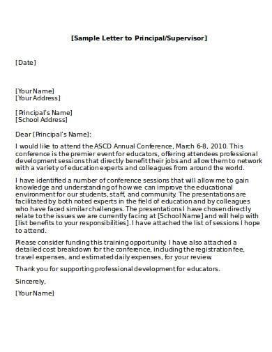 sample school principal excuse letter