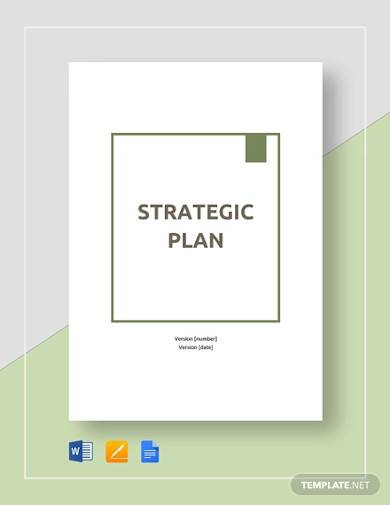 sample strategic plan template