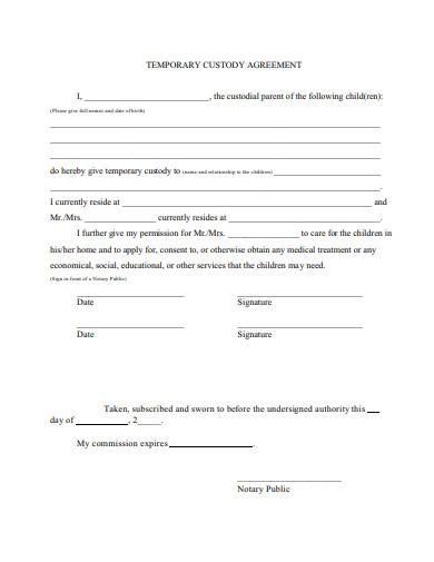 Sample Letter Of Child Custody Agreement from images.sampletemplates.com
