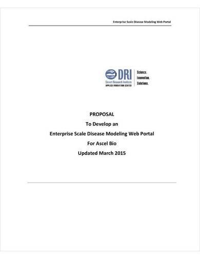 sample web portal project proposal