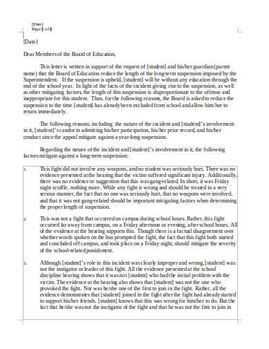 Free 10 School Appeal Letter Samples Templates In Ms Word Pdf