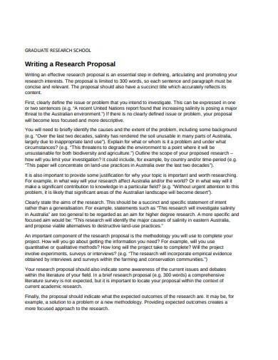 school research proposal format