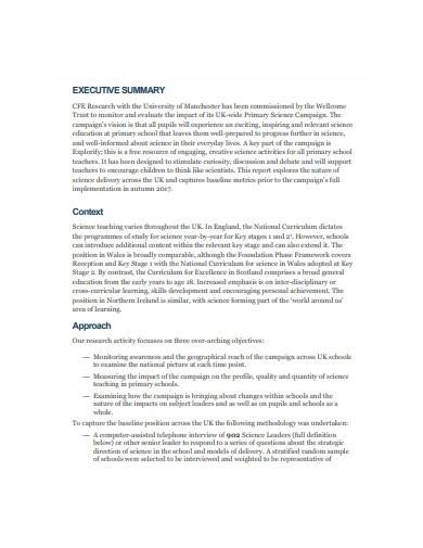science research report template