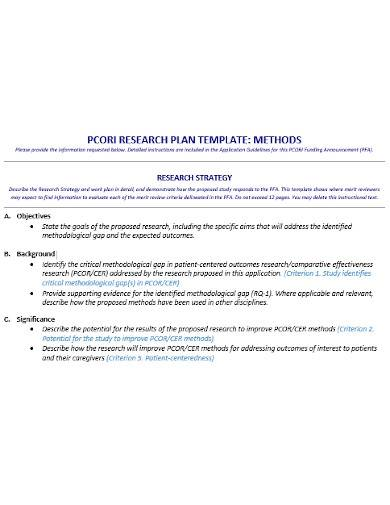 simple research plan template