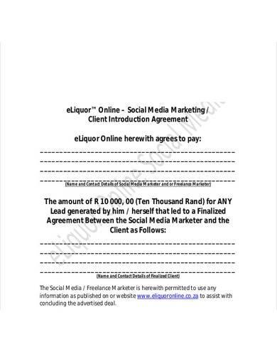 social media client marketing agreement
