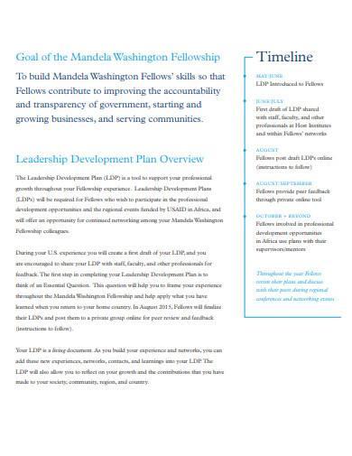 standard leadership development plan