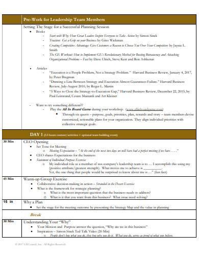 strategic planning session agenda