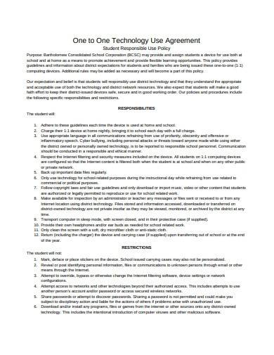 technology use agreement template