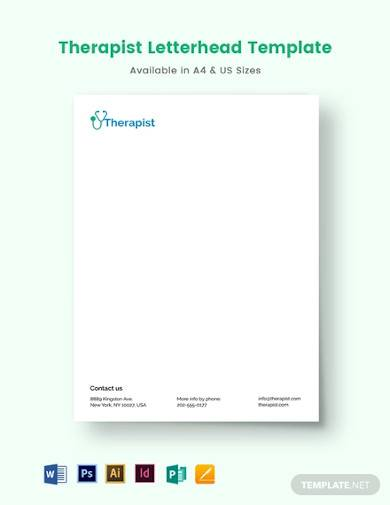 therapy letterhead template