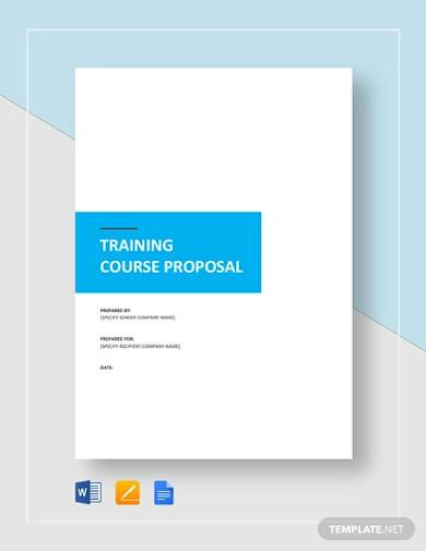 training course proposal template