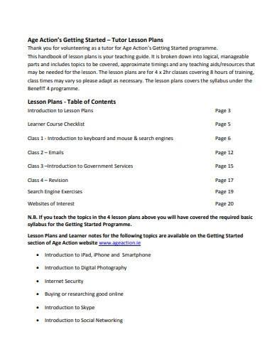 tutor lesson plans template