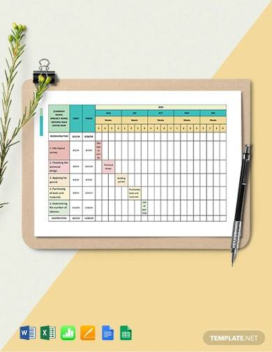 two week construction schedule sample
