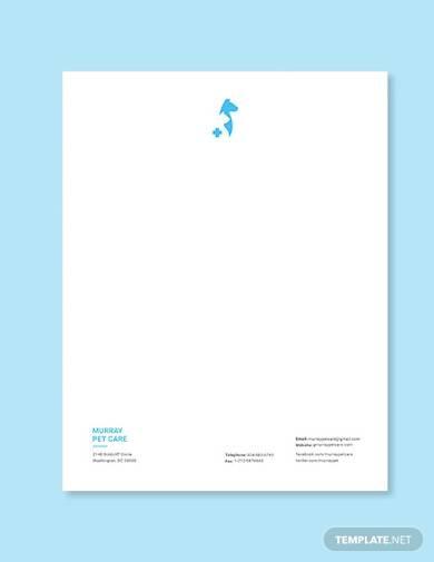 veterinary hospital letterhead template