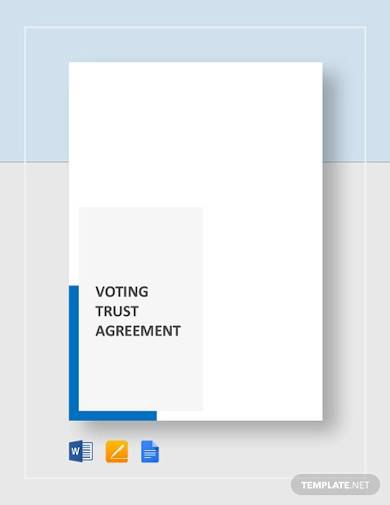 voting trust agreement sample