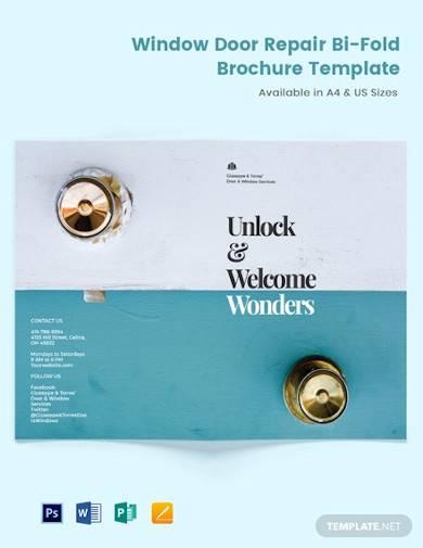 window door repair bi fold brochure